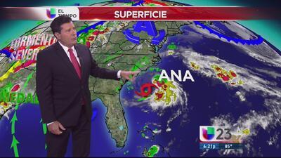 Ana afectará las Carolinas aunque está débil