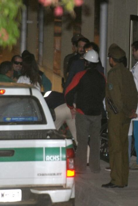 Los mineros José Ojeda, Mario Gómez y Claudio Yánez, que fueron rescatad...