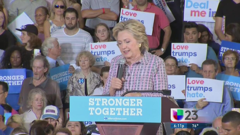 Hillary Clinton visita Coral Springs