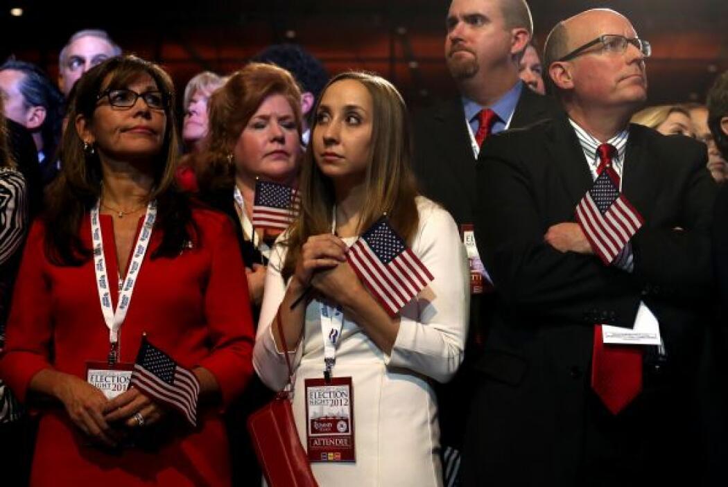 Simpatizantes del partido republicano, reunidos en el Boston Convention...