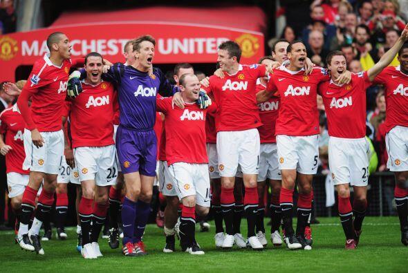El United era campeón y llegaba el tiempo de festejar.