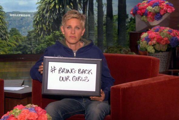 La comediante Ellen DeGeneres aprovechó su popularidad para protestar so...