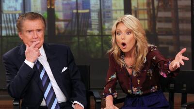 NEW YORK, NY - NOVEMBER 17: Regis Philbin and Kelly Ripa attend a press...