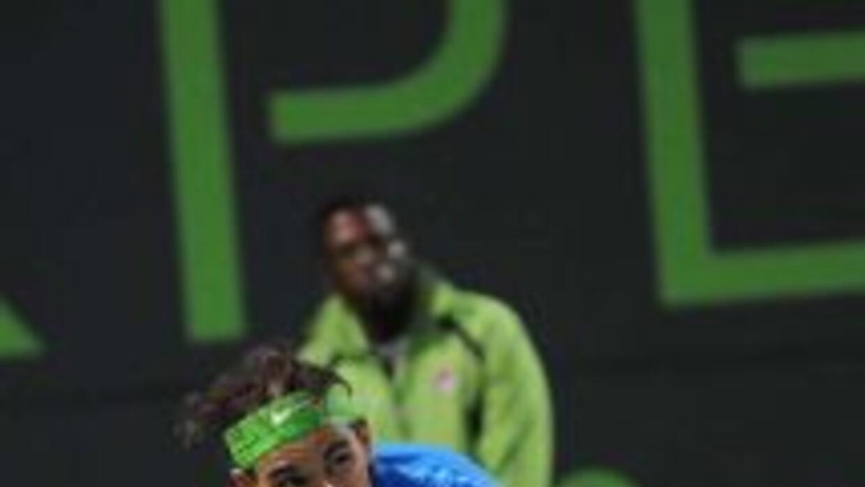 Rafael Nadal durante su partido contra Radek Stepanek en el Sony Ericsso...