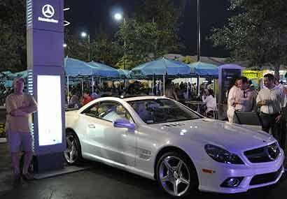 Este año, tampoco han faltado los puestos de conocidas marcas automotric...