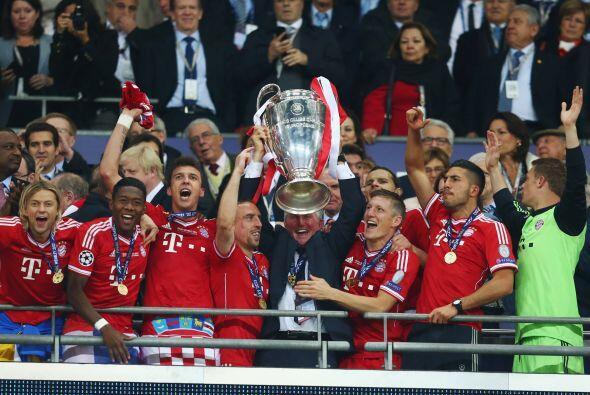 La corona que hace algo menos de cuatro meses conquistó el Bayern...
