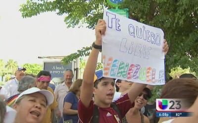 Venezolanos protestaron contra Maduro en Miami