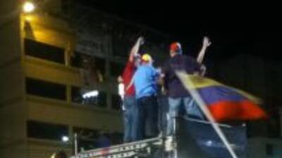Una muestra de apoyo para Henrique Capriles. El crédito de la fotografía...