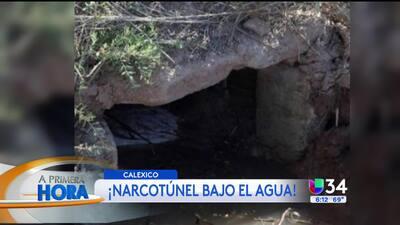 ¡Narcotunel en el mar entre CA y México!