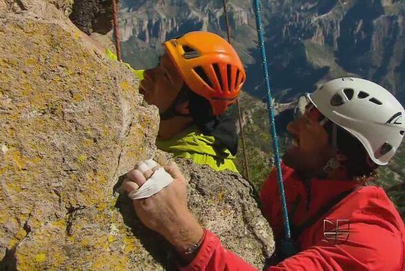 """En """"Un Refugio Para El Amor"""" no usaba dobles para escalar mont..."""