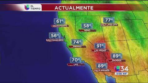 Se prevén temperaturas sumamente elevadas en el sur de California