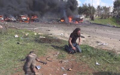 El reportero de guerra Abd Alkader Habak quebrado en llanto tras el ataq...