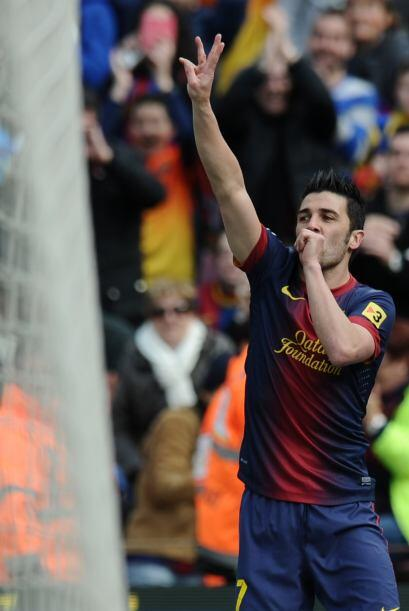 Villa aprovechaba los minutos que le daban en el campo con este gol.