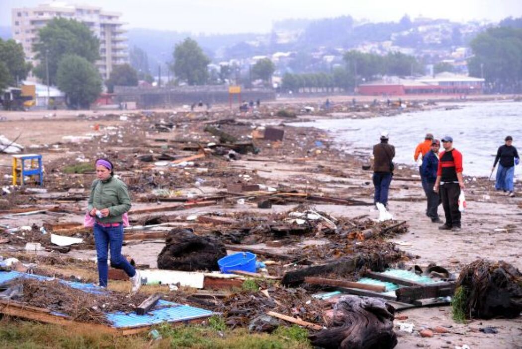 La ola gigante llegó a múltiples países del Pacífico, pero causó víctima...