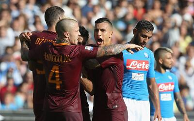 La Roma venció 3-1 al Nápoles