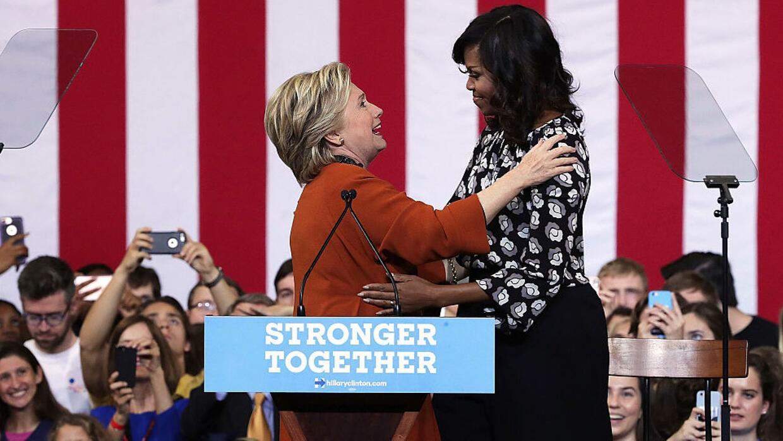 Los elogios mutuos de Hillary y Michelle
