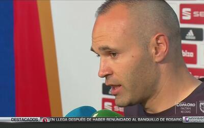 """Iniesta: """"El reto para Barcelona es seguir ganando título el siguiente año"""""""