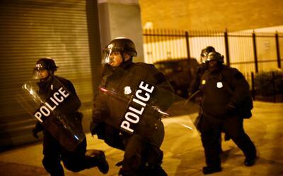 Acción policial tras la búsqueda de manifestantes en Washi...