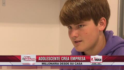 Adolescente crea empresa millonaria