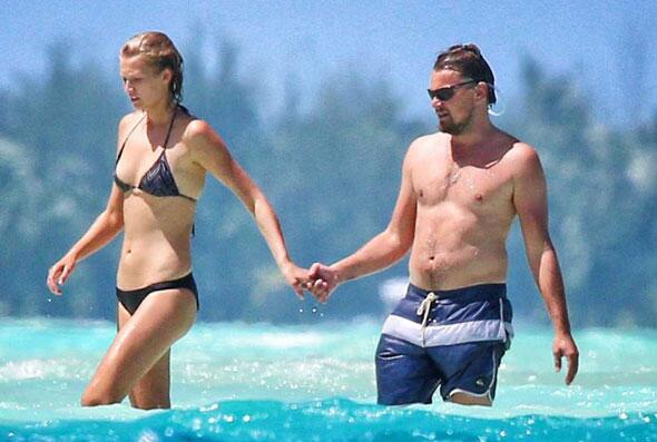 Leonardo DiCaprio en la playa