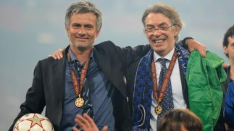 Mourinho y Moratti aparecen juntos luego de que el INter ganara la Champ...