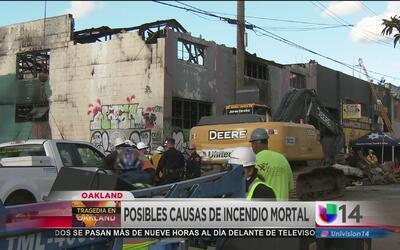 Investigan si un refrigerador desató el incendio el almacén de Oakland