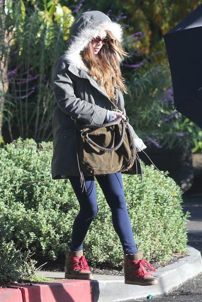 Megan Fox apuesta por la comodidad, por lo que los 'leggins' se han conv...