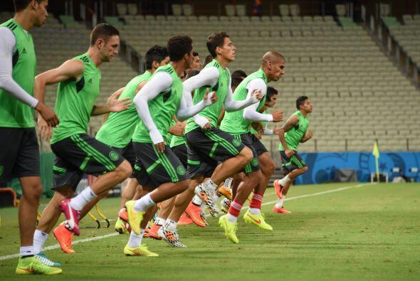 El equipo mexicano pisó la cancha del Estadio Castelao en Fortaleza, don...
