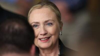 La Secretaria de Estado de Estados Unidos, Hillary Clinton.
