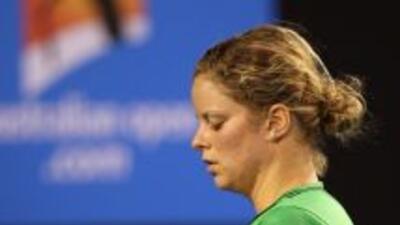 La belga Clijsters no pudo participar en la eliminatoria de semifinales...