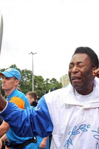 Llevando la llama olímpica en Brasil en el 2004, la emoció...