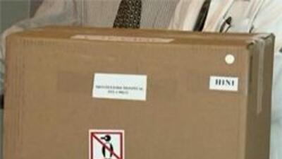 Caja que contiene las vacunas.