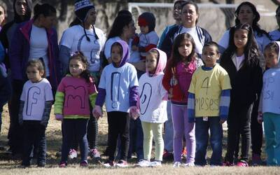 Un grupo de inmigrantes centroamericanos durante una protesta frente al...
