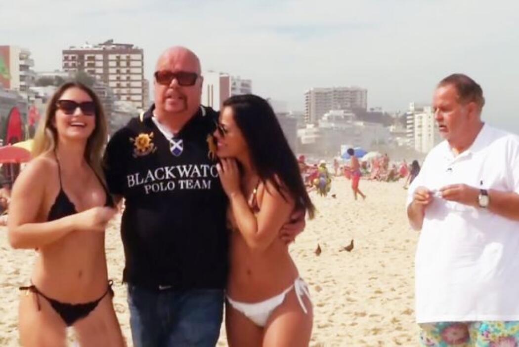 El 'Perro' Bermúdez le robó las sexys chicas de Ipanema a Raúl de Molina...