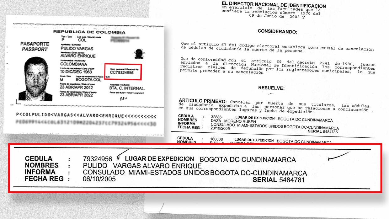 Documentos de Álvaro Pulido.