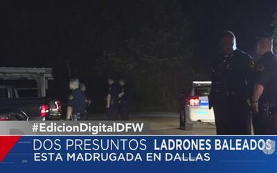 Dos ladrones son baleados por un residente de Dallas