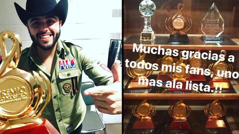 Gerardo Ortiz celebra el tener 11 preseas de Premio Lo Nuestro.