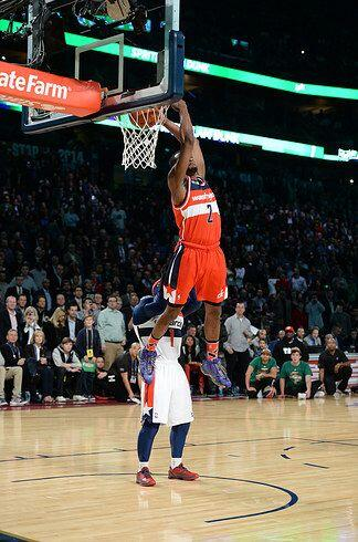 2014 - John Wall  de los  Washington Wizards ganó el concurso del 2014 c...