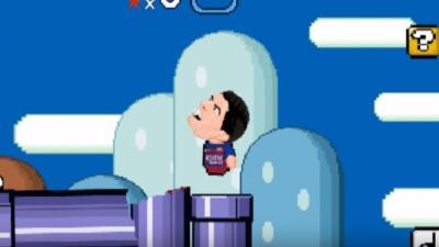 El jugador uruguayo se convirtió en personaje de Mario Bros