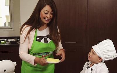 Conocimos al Mini Chef que prepara grandes recetas, y tan sólo tiene 4 años