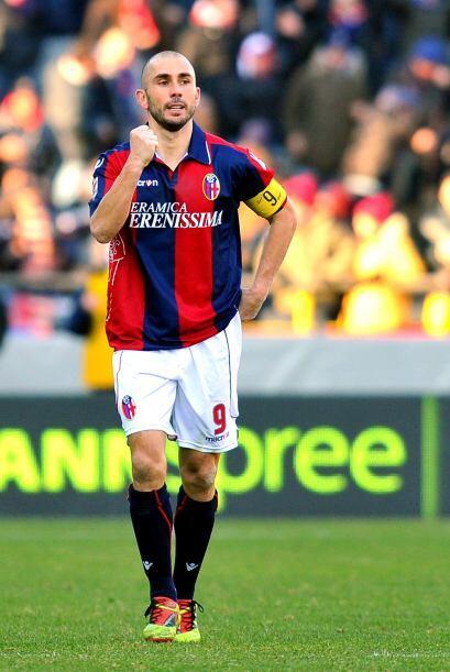 Y faltaba un gol más de Di Vaio, para que Bolonia se impusiera po...