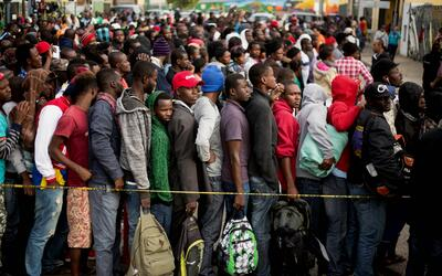 Haitianos en Tijuana