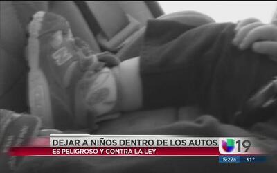 Los riesgos de dejar a un menor en el coche