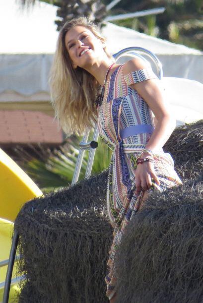 La modelo está en España haciendo muchas sesiones de fotos.