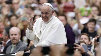 El papa Francisco a su llegada a una misa en Estados Unidos.
