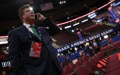 El expresidente de la campaña de Donald Trump, Paul Manafort, el...