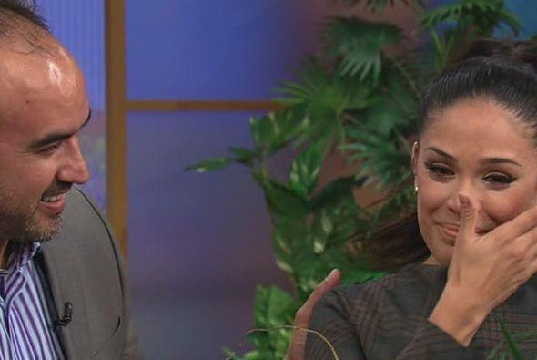 """""""Muchas gracias por la gran sorpresa"""", dijo la presentadora a la producc..."""