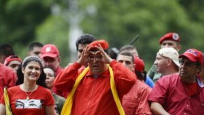 El presidente Hugo Chávez busca su tercera reelección.