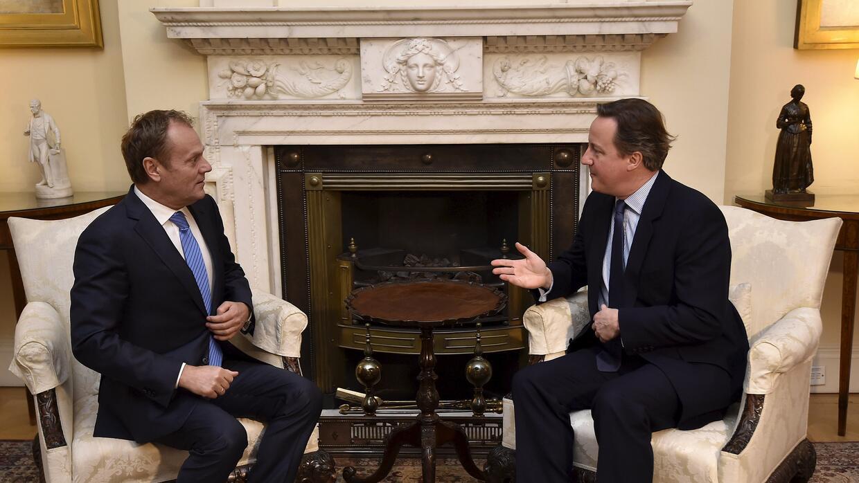 David Cameron y Donald Tusk