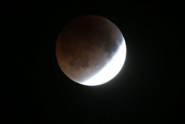 Y así es como se vio la luna en Miami, Florida.